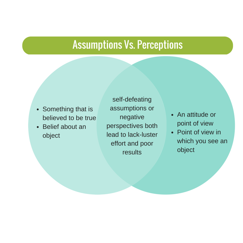 assumptions vs. perceptions